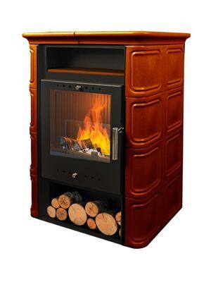 Печь-камин VERA 6 кВт (коричневая) — NORDflam