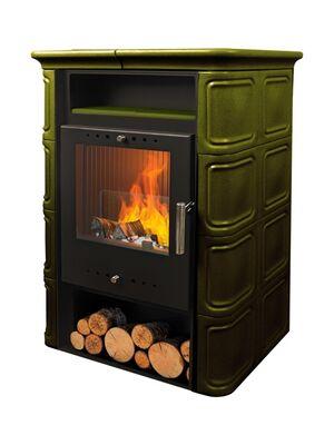 Печь-камин VERA 6 кВт (зеленая) — NORDflam
