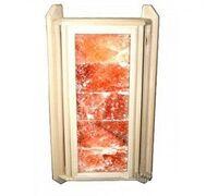 Абажур угловой липа с розовой гималайской солью 5 плиток