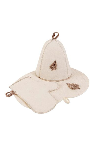 Комплект банный (шапка,рукавица,коврик), войлок (Б16)