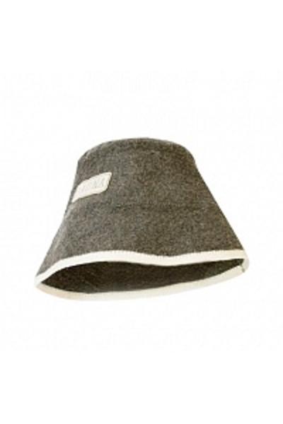 Шапка банная Панама, войлок серый (Б4540)