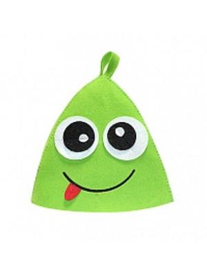 Шапка банная Глазастик, фетр зелёный (Б47014)
