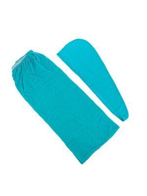 Комплект для бани жен. (чалма, парео), махра, размер XXL (Б261)