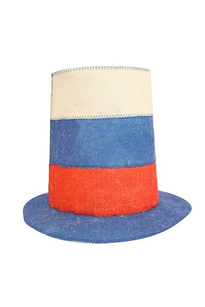 Шапка банная Шляпа Триколор, войлок (Б401614)