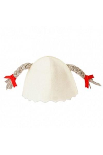 Шапка банная Малышка, фетр белый (Б45012)