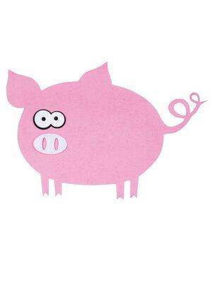 Коврик банный с аппликацией Розовое счастье, войлок (А3402)