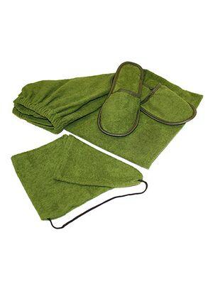Комплект д/бани Люксмуж.,махра (шапка,накидка-килт,тапочки) (Л02)