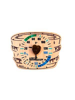 Термометр-гигрометр д/бани и сауны Шайка (Б-1157)