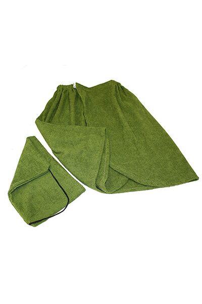 Комплект для бани муж.,махра(шапка,килт) (Б25)
