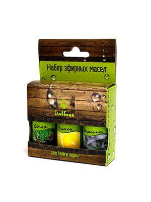 Набор масел эфирных: Лимон, Сосна, Эвкалипт, 3х17мл (Б702.)