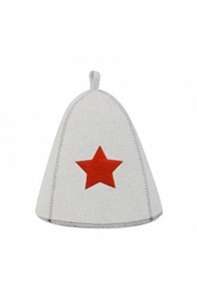 Шапка банная со звездой, войлок (Б4001)