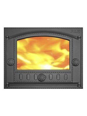 Дверка каминная ДК-2С крашенная со стеклом - НМК