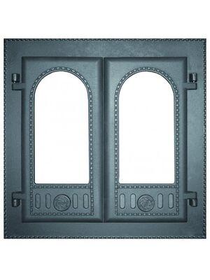 Дверка каминная двустворчатая крашеная без стекла ДК-6С - НМК