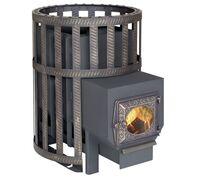 *Печь для бани Викинг 24 Сетчатый кожух ДТ 3 стекло - Березка