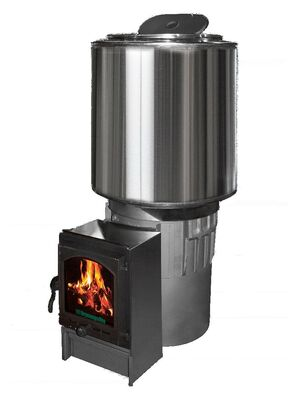 Печь для бани АТБ Карелия 5 40кВт закрытая каменка с порталом (АТБ5-Ч-40Ук)