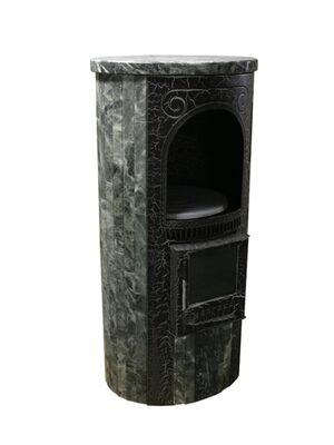 Печь-камин «Лада» в облицовке «Ламель» - Змеевик - Ферингер