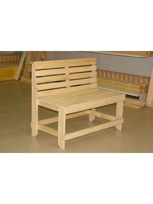 Скамейка со спинкой для бани