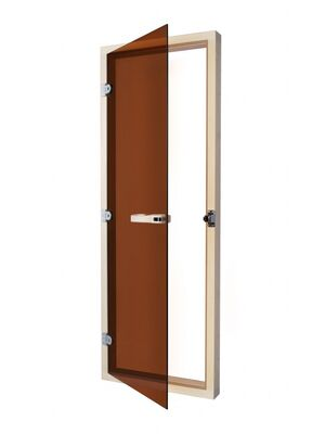 Дверь SAWO 730-4SGA (7/19, бронза с порогом)