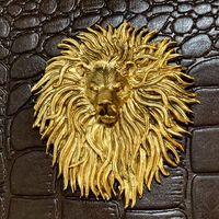 Чехол для шампуров кожаный Лев