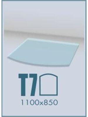 Напольное стекло под печь и камин Т7