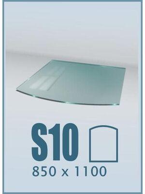 Напольное стекло под печь и камин S10
