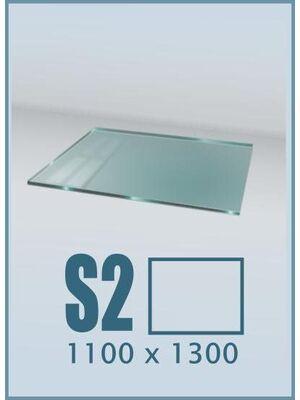 Напольное стекло под печь и камин S2