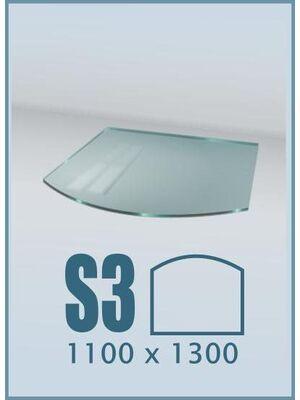 Напольное стекло под печь и камин S3