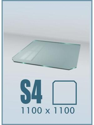 Напольное стекло под печь и камин S4