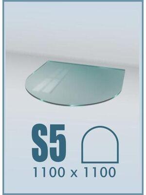 Напольное стекло под печь и камин S5