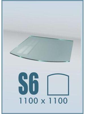Напольное стекло под печь и камин S6