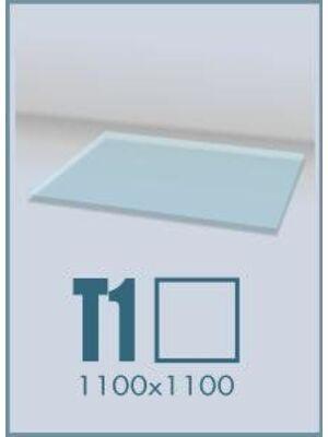 Напольное стекло под печь и камин Т1