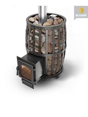 Чугунная печь для бани Легенда Русский пар Ковка 24 (270) Везувий