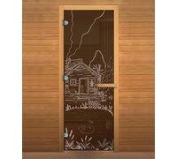 Дверь для бани и сауны Бронза 'БАНЬКА' 1900х700мм
