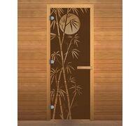 Дверь для бани и сауны Бронза Матовая 'БАМБУК' 1900х700мм