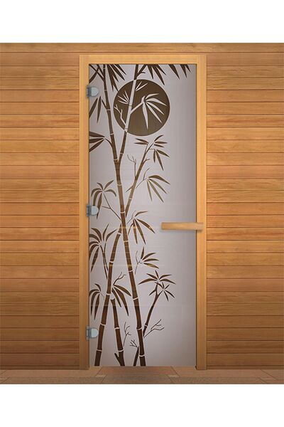 Дверь для бани и сауны Сатин Матовая 'БАМБУК' 1900х700мм