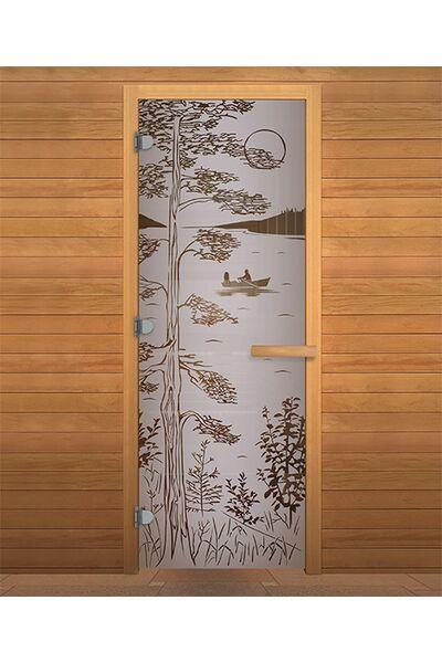 Дверь для бани и сауны Сатин Матовая 'ТАЙГА' 1900х700мм