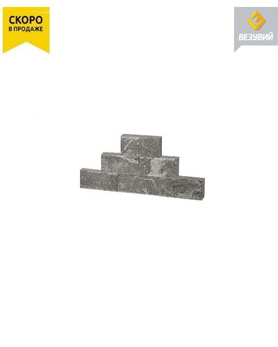 Плитка облицовочная рваный камень талькохлорит 100х50х20мм Везувий