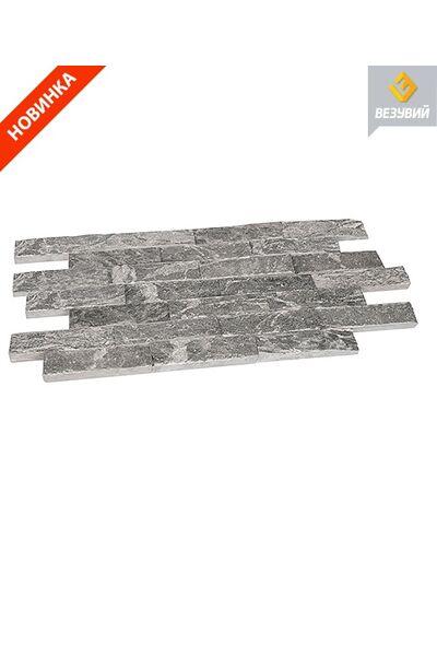 Плитка облицовочная рваный камень талькохлорит 200х50х20мм Везувий