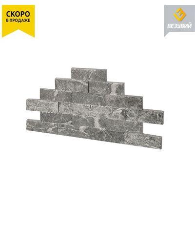 Плитка облицовочная рваный камень талькохлорит 200х40х25мм Везувий